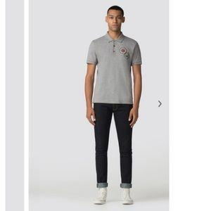 Ben Sherman   Light Grey Badge Polo Shirt L
